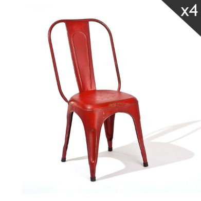 chaise dep rouge